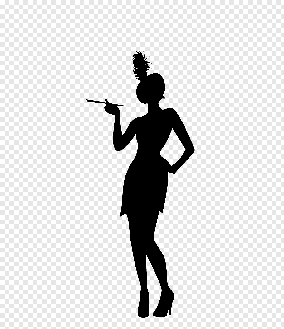 Silhouette of woman illustration, 192portable network.