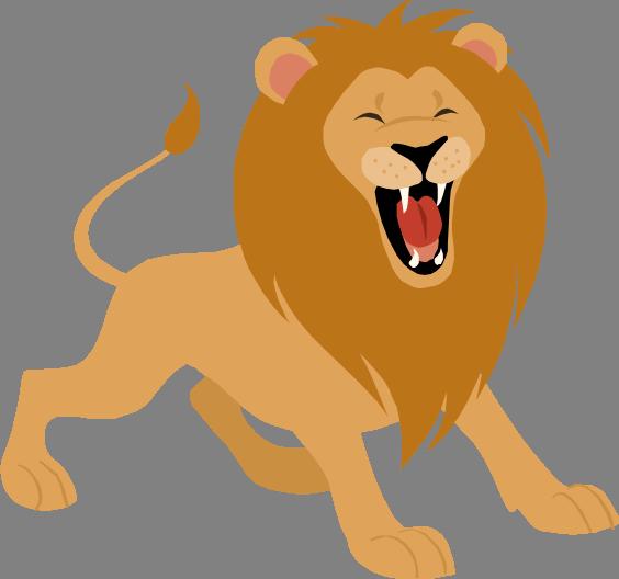 Clipart Lion Roaring.