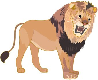 Roaring lion clipart free.