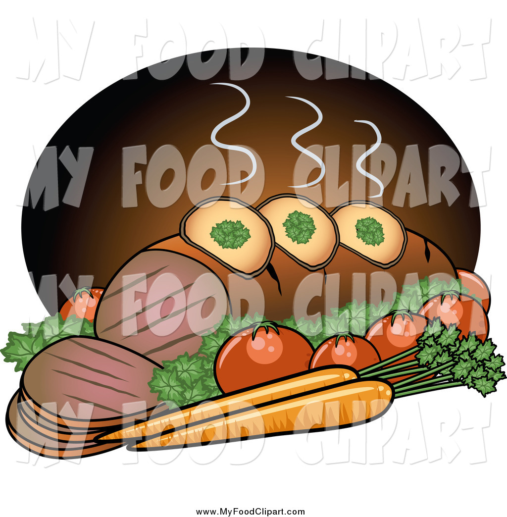 Beef Pot Roast Clip Art.
