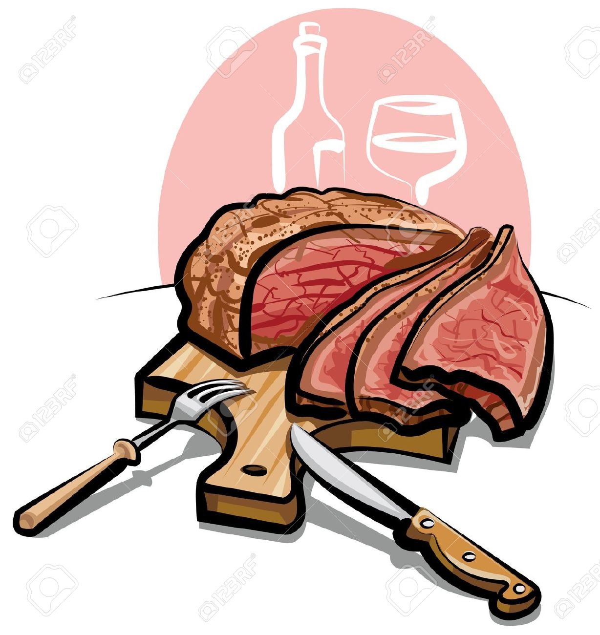 Clipart roast beef dinner.
