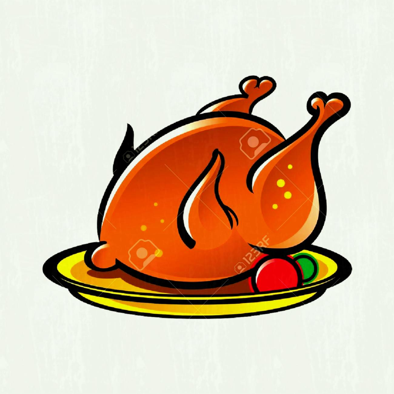 Roasted chicken clipart 2 » Clipart Station.