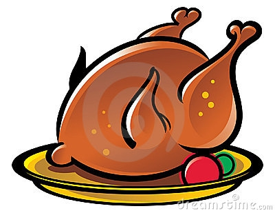 Roast Chicken Dinner Clipart.