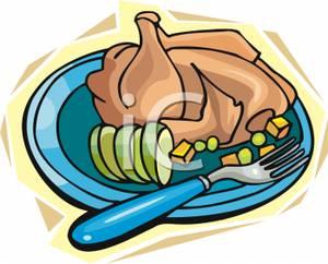 Chicken Dinner Clipart.