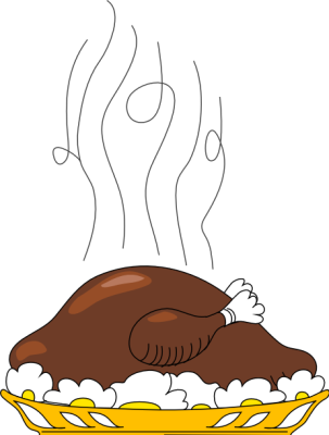 Free Roast Turkey Clipart.