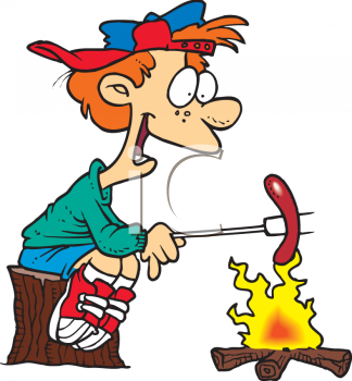 Summer Camp Roast Clipart.