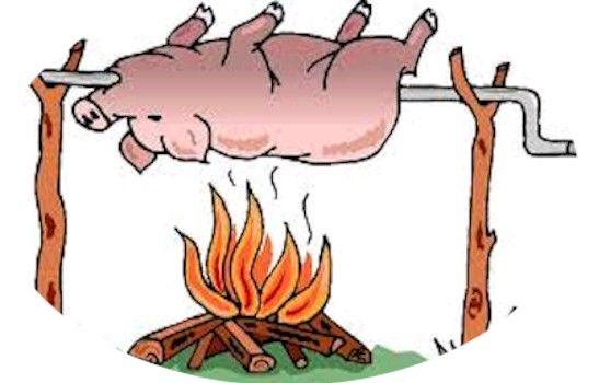Free Pig Roast Clip Art.