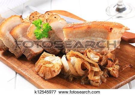 Picture of Roast pork belly k12545977.