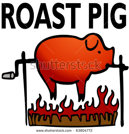 Pig Roast Stock Images, Royalty.