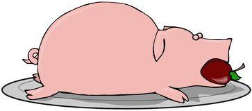 Roast Pork Stock Illustrations.