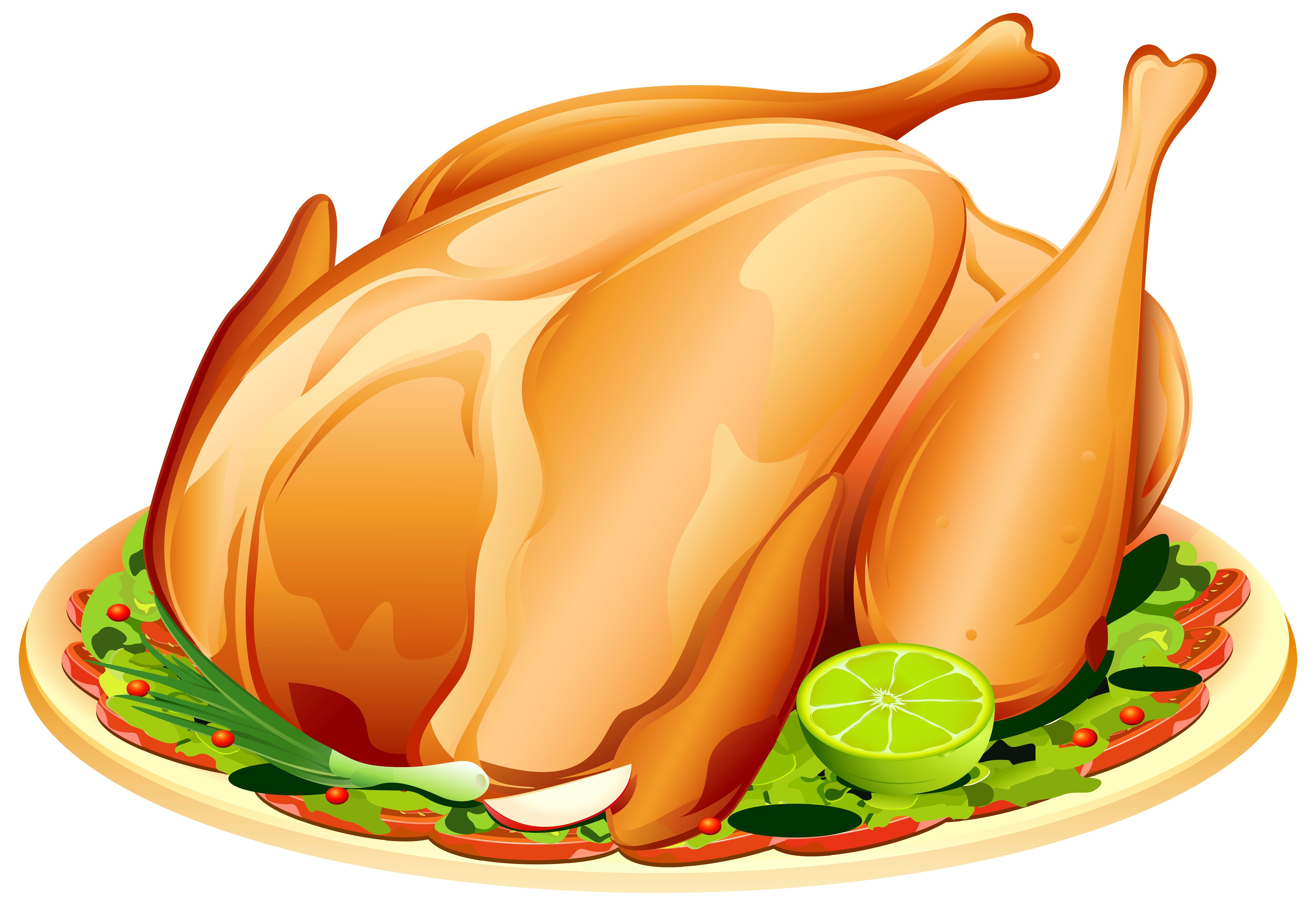 Roast Turkey PNG Clipart Image.