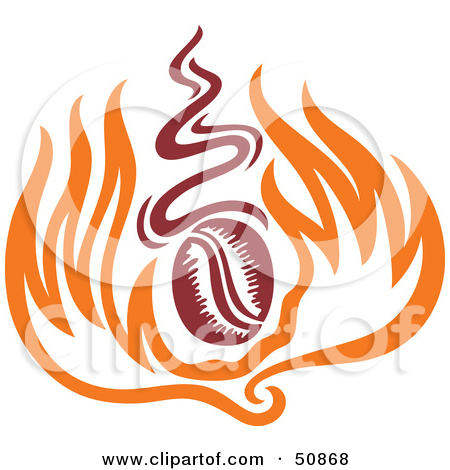 Roasted coffee beans clipart #20