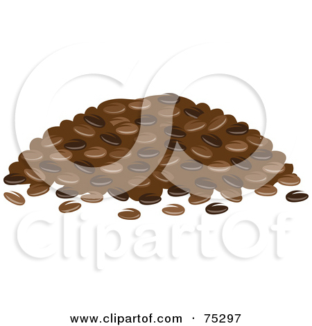 Clipart 3d Roasted Coffee Beans.