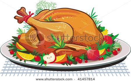 Turkey on the Platter for a Delicious Thanksgiving Meal.