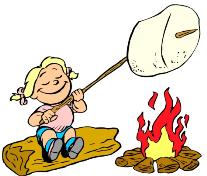 Roasting marshmallow clipart.