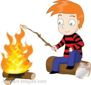 Cartoon Roasting Marshmallows.