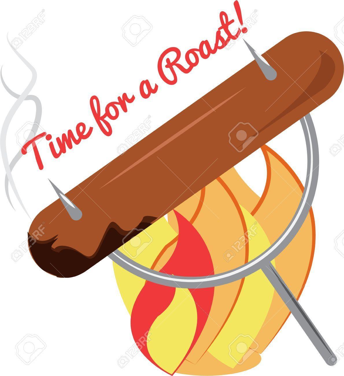 Sausage clipart weiner roast.