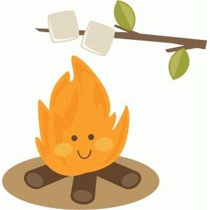 Cute campfire roasting marshmallows.