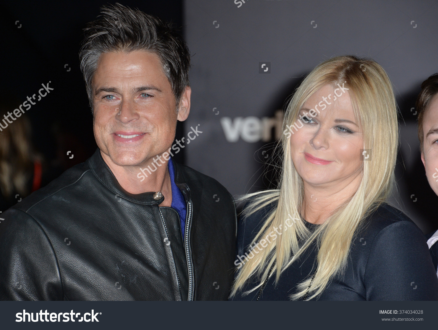 Actor Rob Lowe Wife Sons World Stock Photo 374034028.