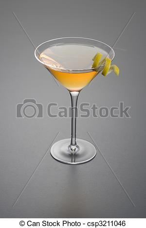 Stock Image of Dry Rob Roy or Manhattan cocktail.