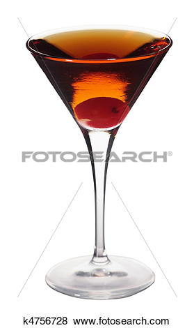Pictures of Rob Roy cocktail isolated on white background in.