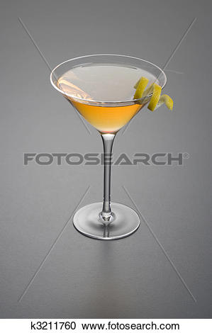 Stock Photography of Dry Rob Roy or Manhattan cocktail k3211760.