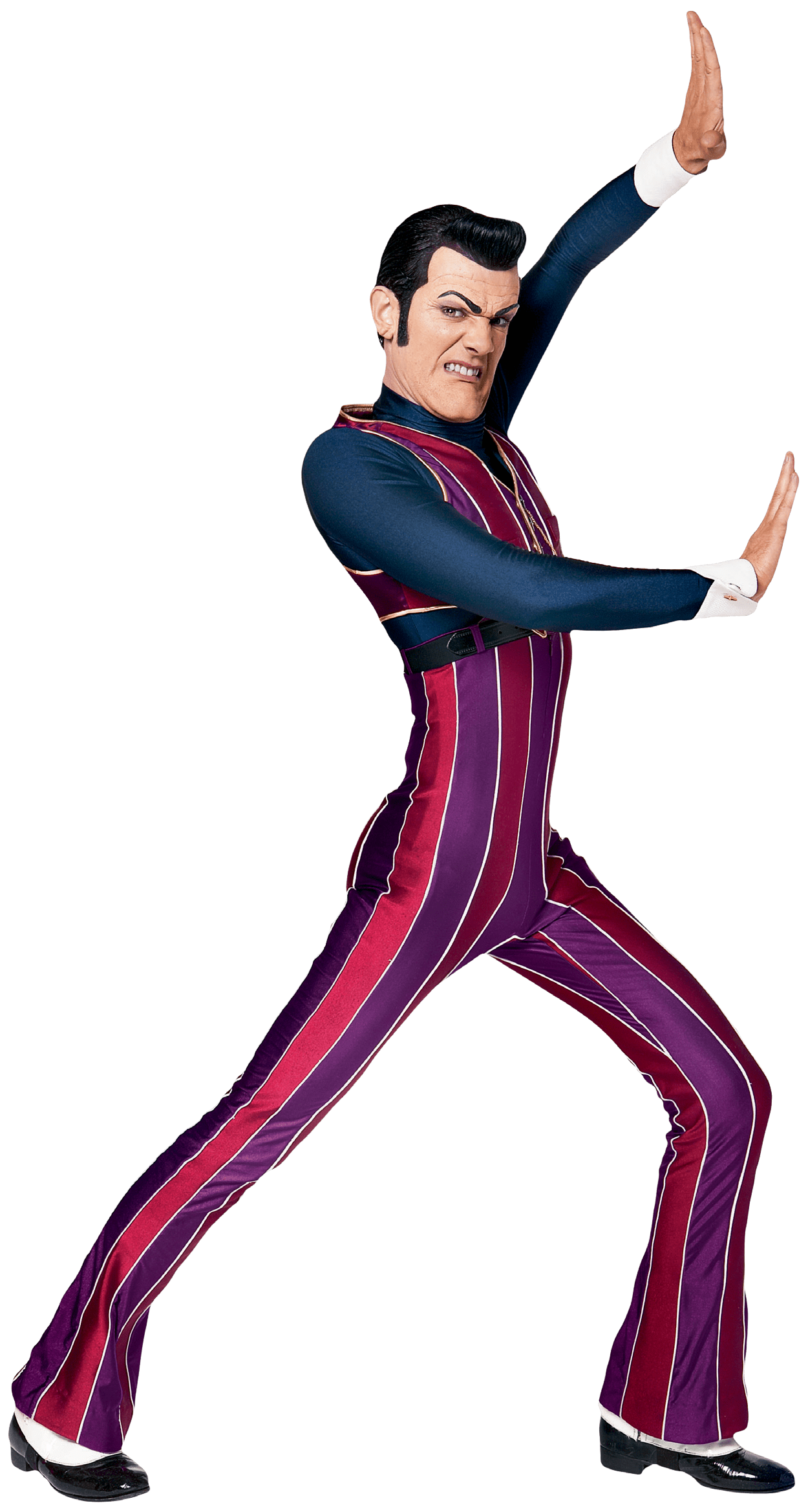 Robbie Rotten Trying To Hold the Wall transparent PNG.