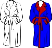white robe : housecoat in two.