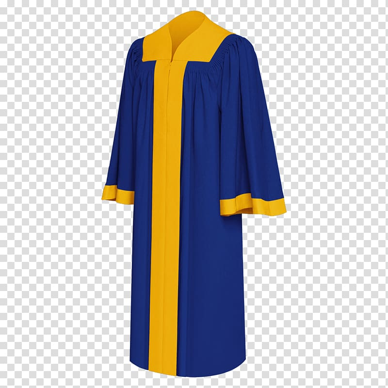 Robe Academic dress Clothing Gown, blue graduation cap.