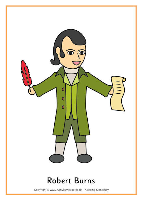 Robert burns clipart.