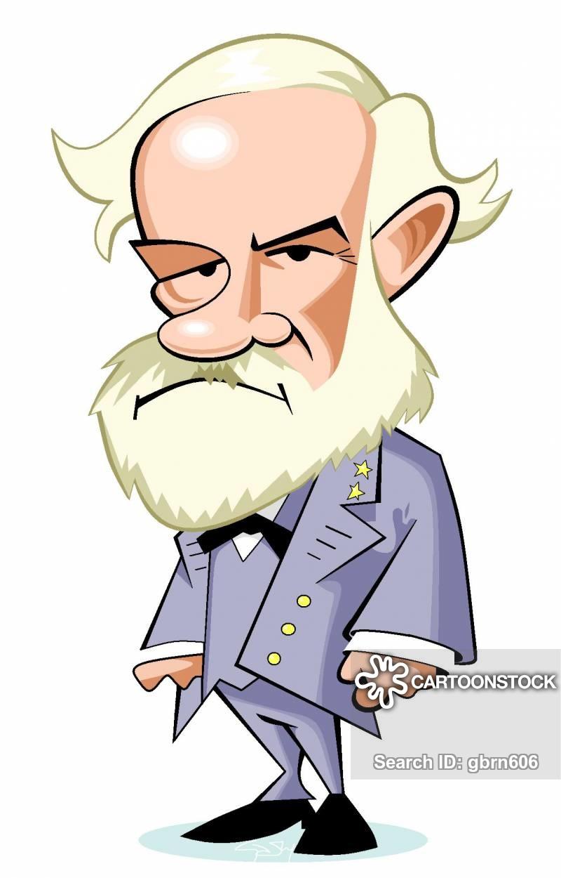 Robert E. Lee Cartoons and Comics.