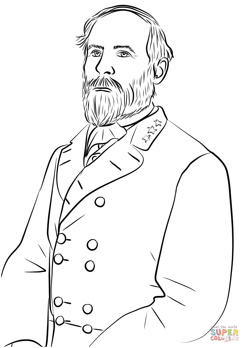 Robert E. Lee coloring page.