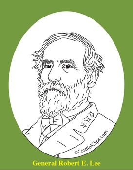 General Robert E. Lee Realistic Clip Art, Coloring Page, and.