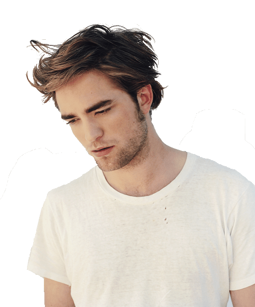 Robert Pattinson Looking Down transparent PNG.