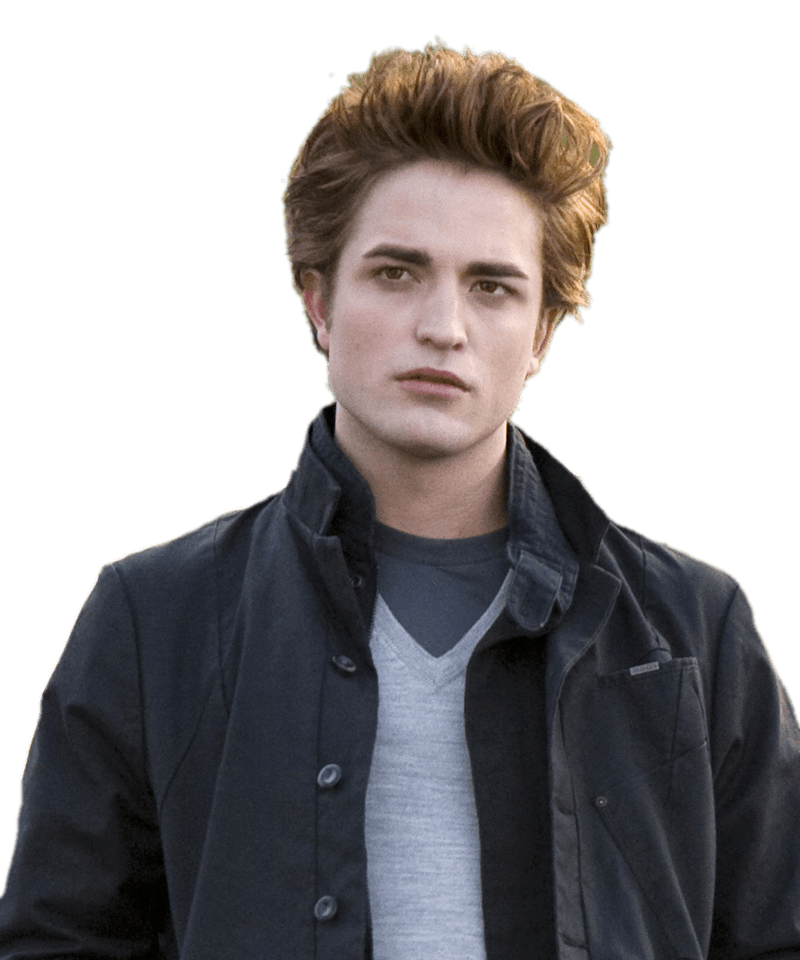 Robert Pattinson Twilight transparent PNG.