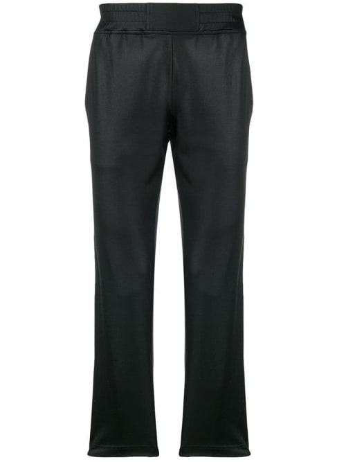 Roberto Cavalli logo side stripe track trousers.