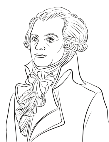 Maximilien Robespierre coloring page.