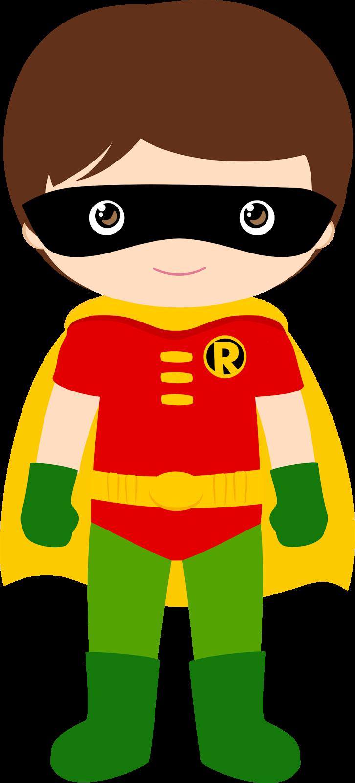 Characters of Batman Kids Version Clip Art..