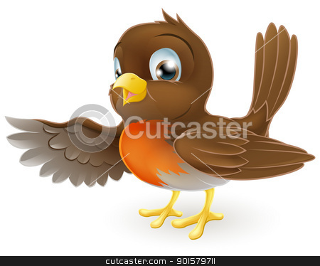 Cute robin clipart.