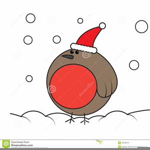 Christmas Robin Clipart Free.