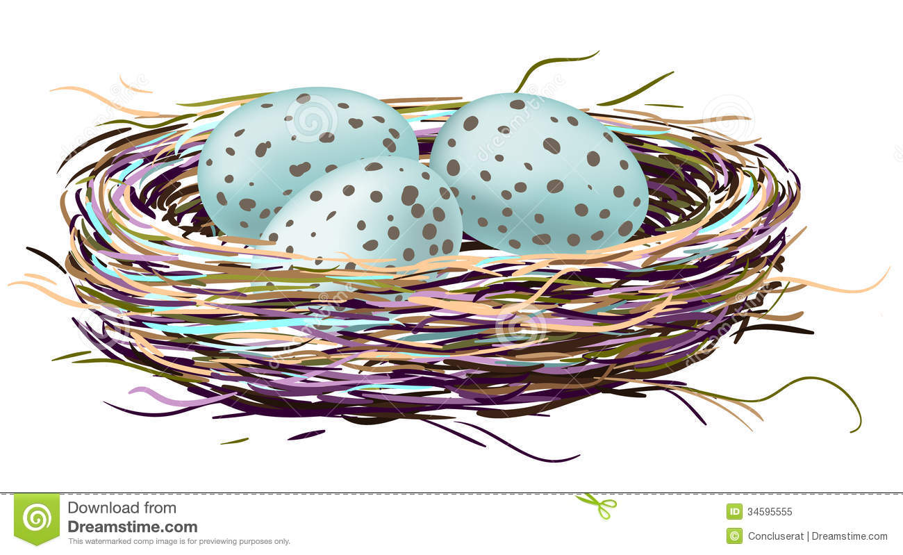Robin Egg Drawing Clipart.