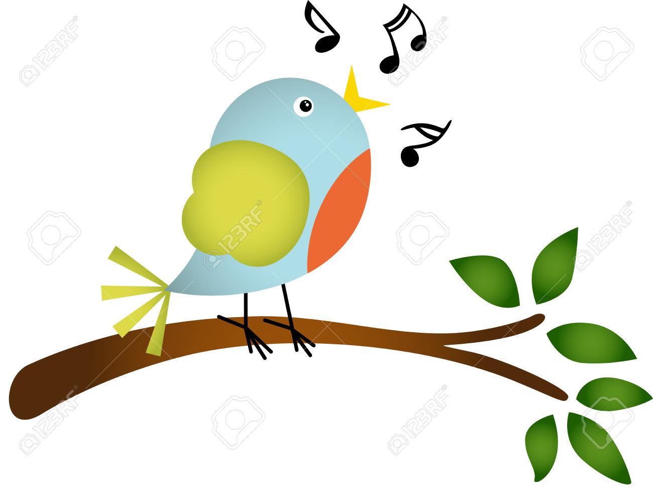 2,648 Singing Bird Stock Vector Illustration And Royalty Free.