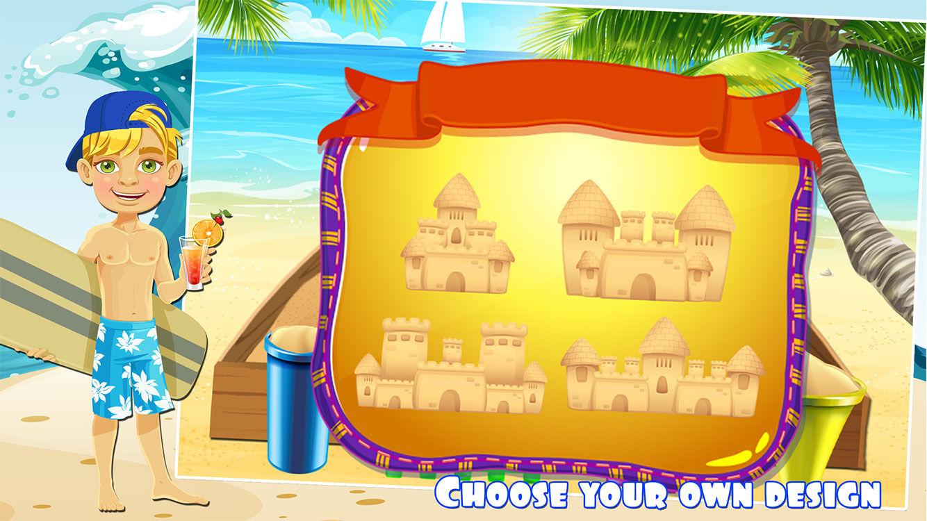 Make sand castle.