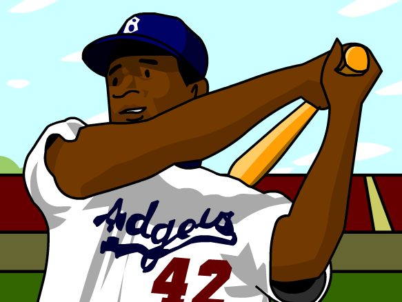 Jackie Robinson Clipart Free.