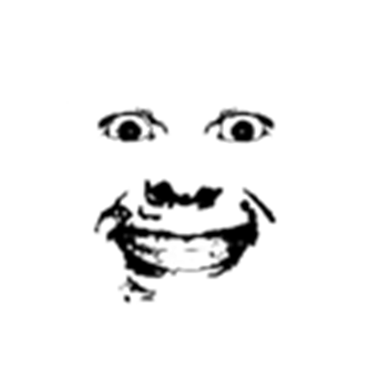 Creepy face (Transparent!).