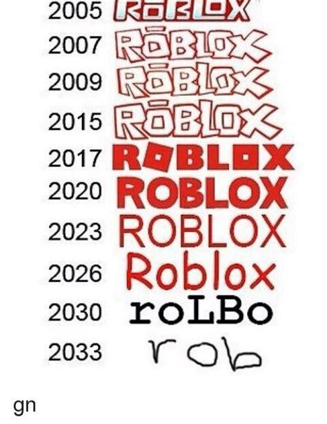 Evolution of roblox Logos.