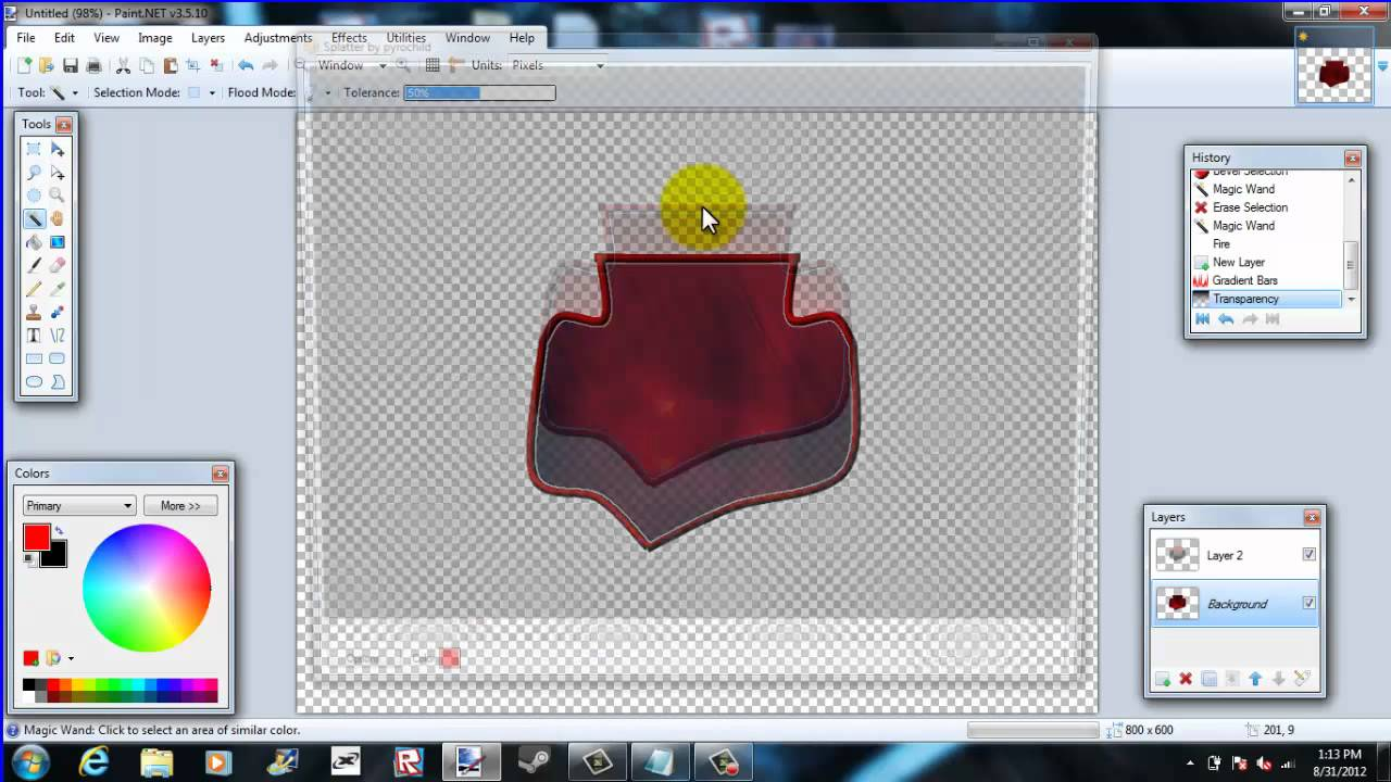 Roblox How to make a group logo with paint.NET.