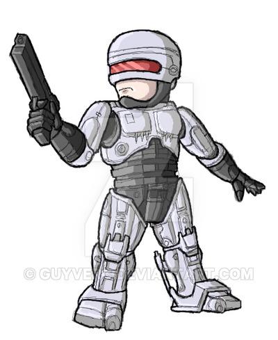 Chibi Robocop Ver 1.0 (2014) by GuyverC on DeviantArt.