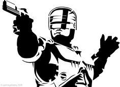 Robocop stencil.