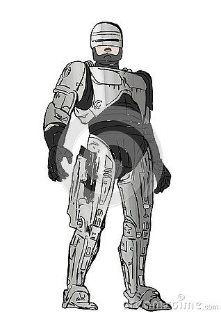 Robocop Stock Illustrations.